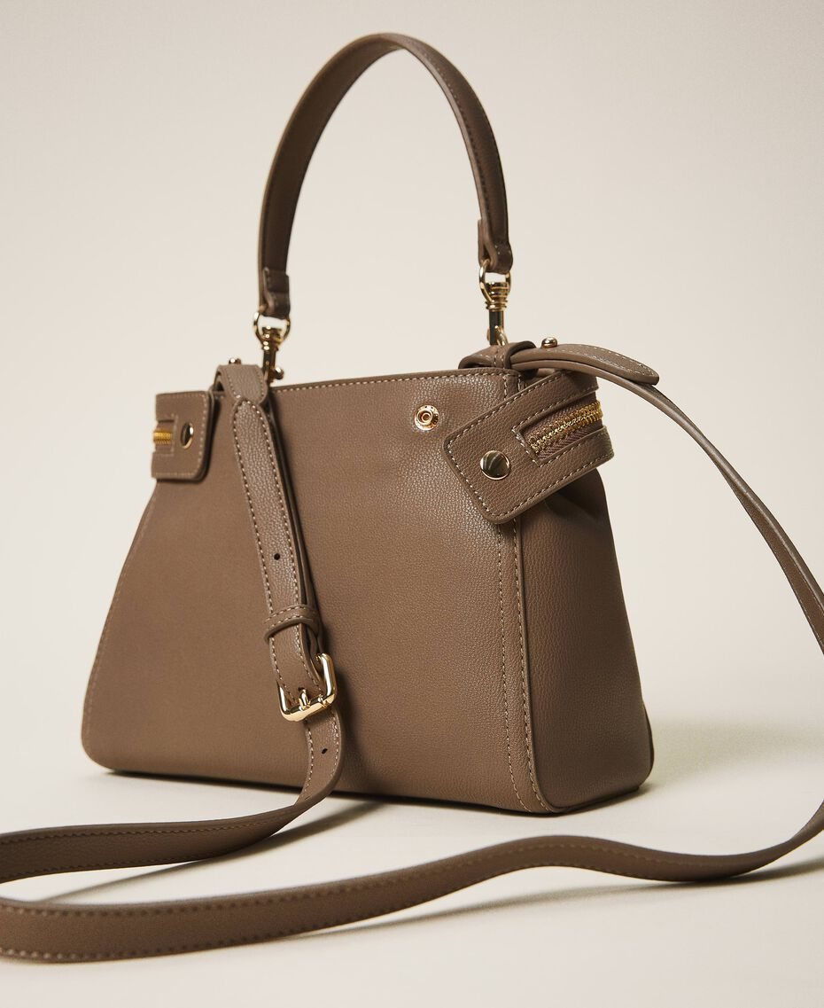 Small faux leather New Cécile bag Turtledove Woman 202TB7181-03