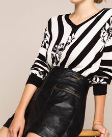 Faux leather shorts with zip Black Woman 201TP241B-04