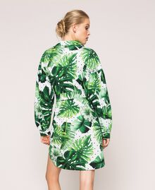 Платье-рубашка из набивного поплина Принт Тропический Горошек Зеленый женщина 201TP2551-03