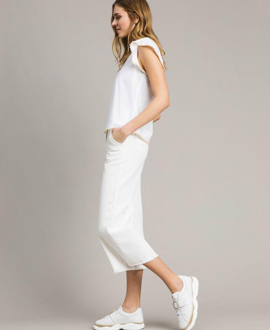 Poplin T-shirt White Woman 191LB2JDD-02