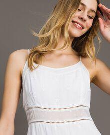 Robe longue avec broderie anglaise Blanc Femme 191LB2EAA-04