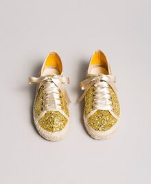 Full glitter espadrilles Gold Yellow Child 191GCJ042-04