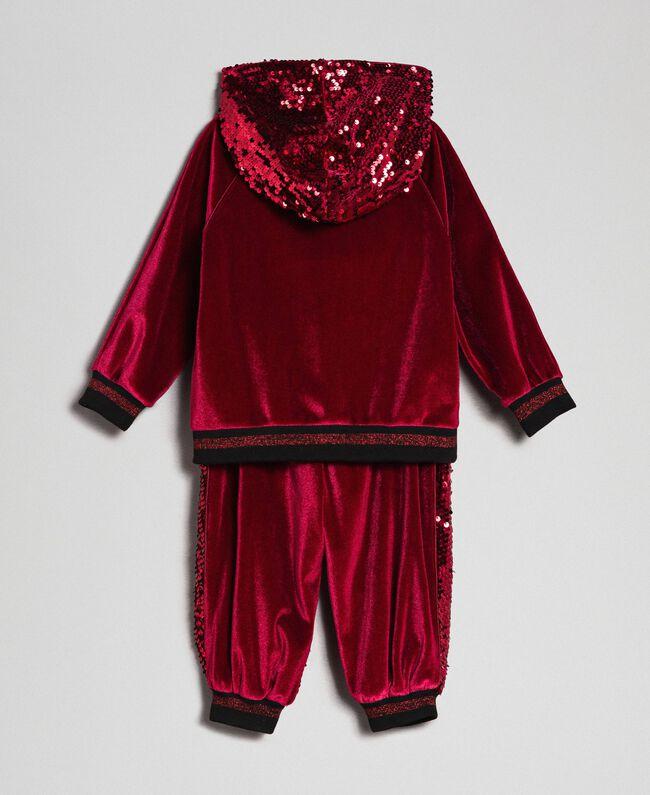 nuovo stile 11eec 13f19 Felpa in velluto e pantaloni con paillettes
