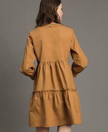 """Popeline-Kleid mit Spitzeneinsätzen """"Savannah"""" Beige Frau 191ST2046-03"""