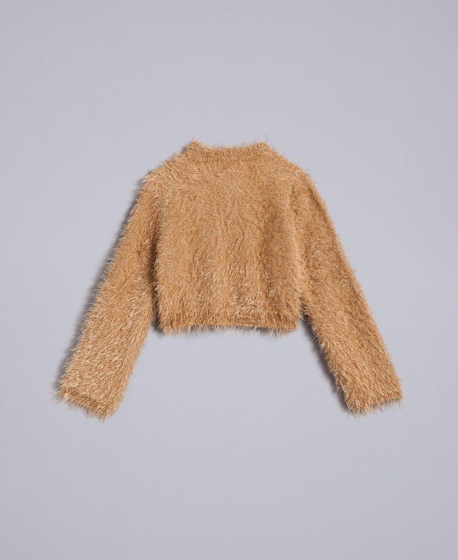 "Fur stitch shrug ""Caramel"" Brown Child FA83D2-0S"