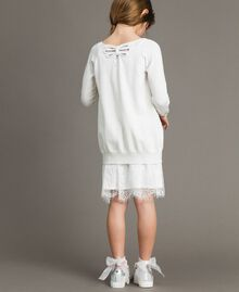 Cotton cardigan with lace Off White Child 191GJ3021-03