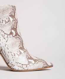 Leather ankle boots Ice Python Print Woman 191TCP13C-04