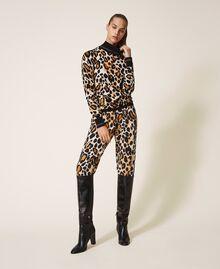 Jersey de cuello alto animal print Estampado Animal print Mujer 202LL3E00-0T