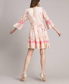 """Robe en georgette à imprimé floral Imprimé Rose """"Bouton De Rose / Peach Mix"""" Femme 191TP2716-04"""