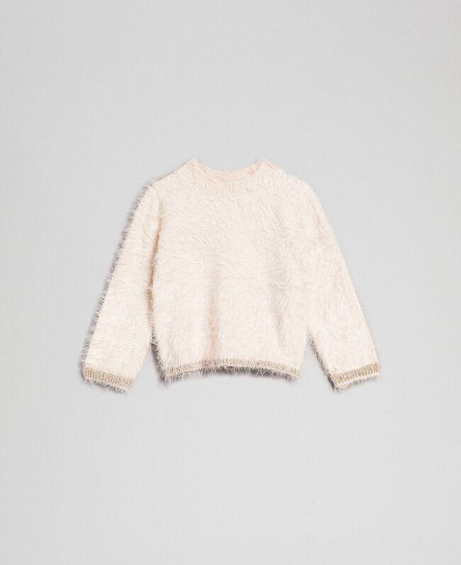 Fur effect yarn jumper Oat Child 192GB3060-01
