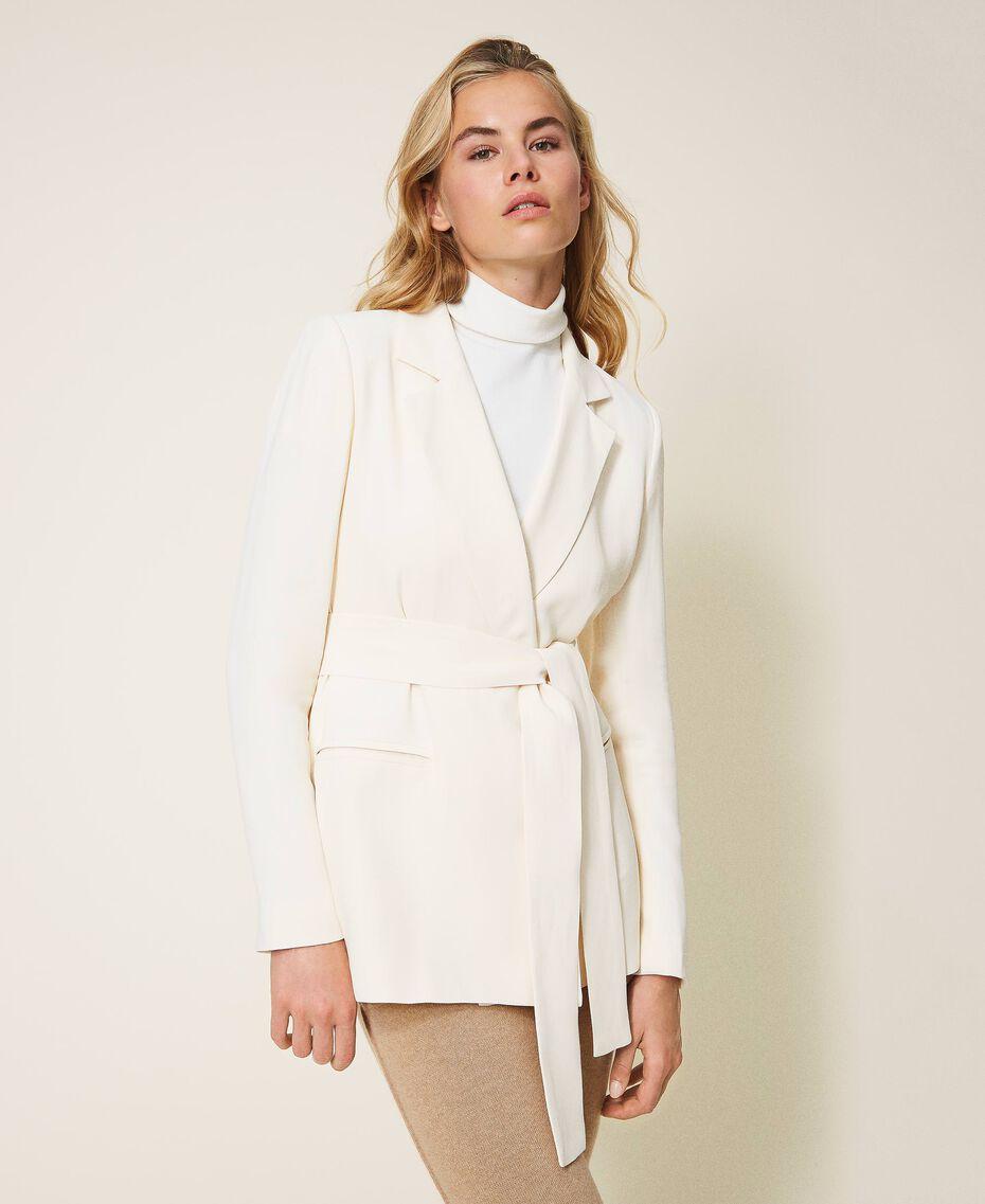 Floaty crêpe blazer Creamy White Woman 202TP2100-01