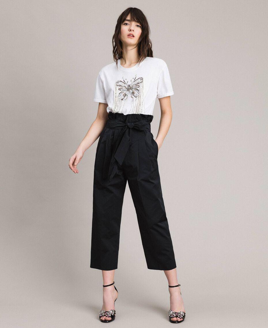 Pantalon en taffetas Noir Femme 191TP2654-01