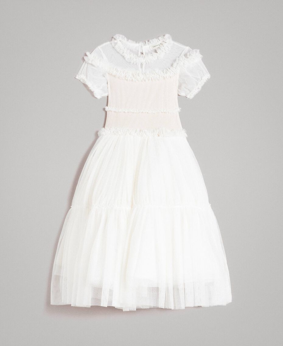 Abito lungo in tulle Chantilly Bambina 191GJ2Q20-01