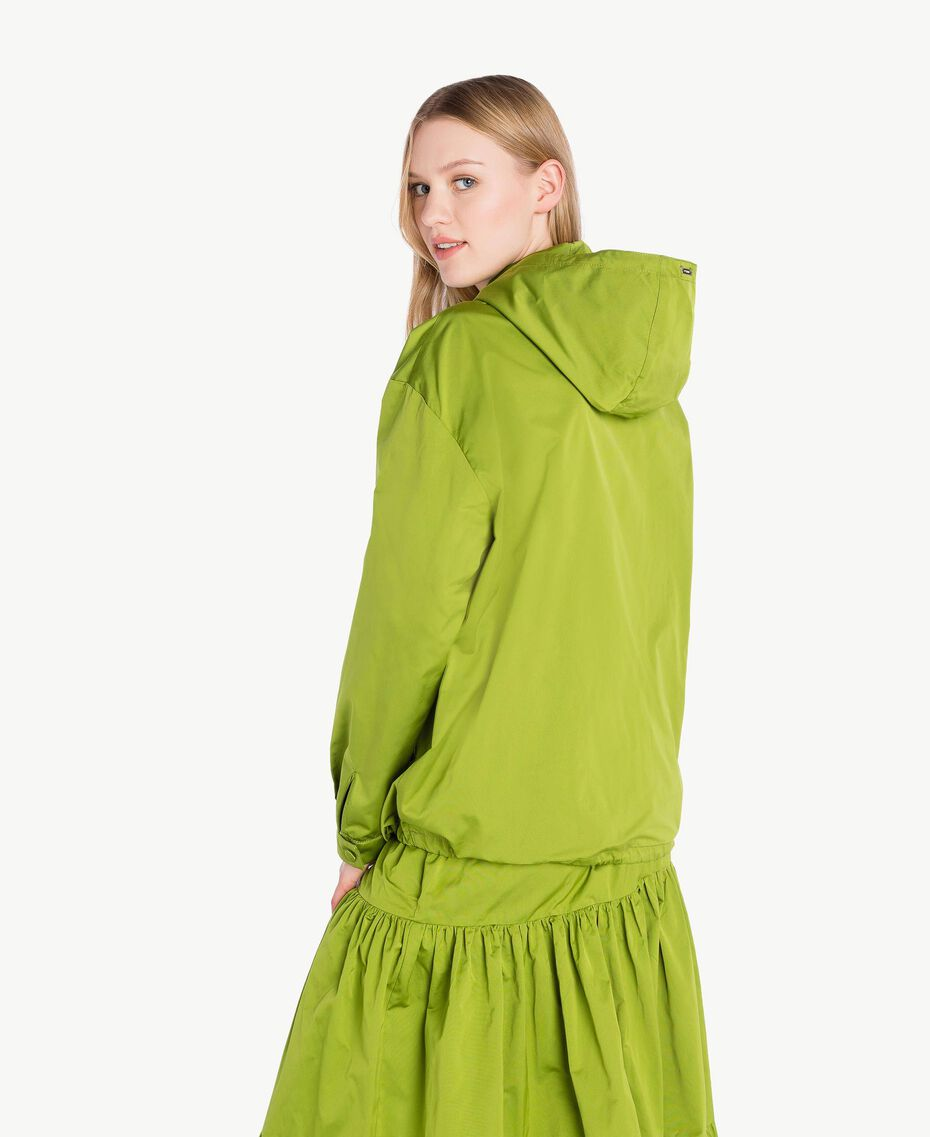 "Technical fabric jacket ""Lime"" Green Woman PS82J5-03"