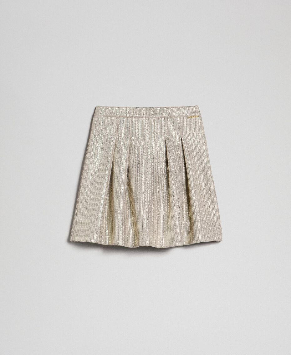 Laminated knit skirt Pale Gold Yellow Child 192GJ2360-0S