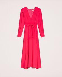 Длинное платье с разрезами Вишня женщина 201TP2433-0S