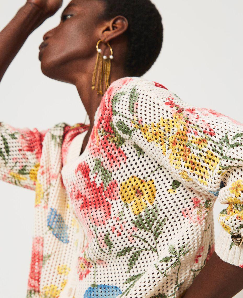 Maglia-cardigan con stampa a fiori Stampa Fiori Di Campo Donna 211TT3141-01