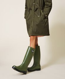 """Rain boots with logo """"Olive Green"""" Woman 202TCP210-0S"""