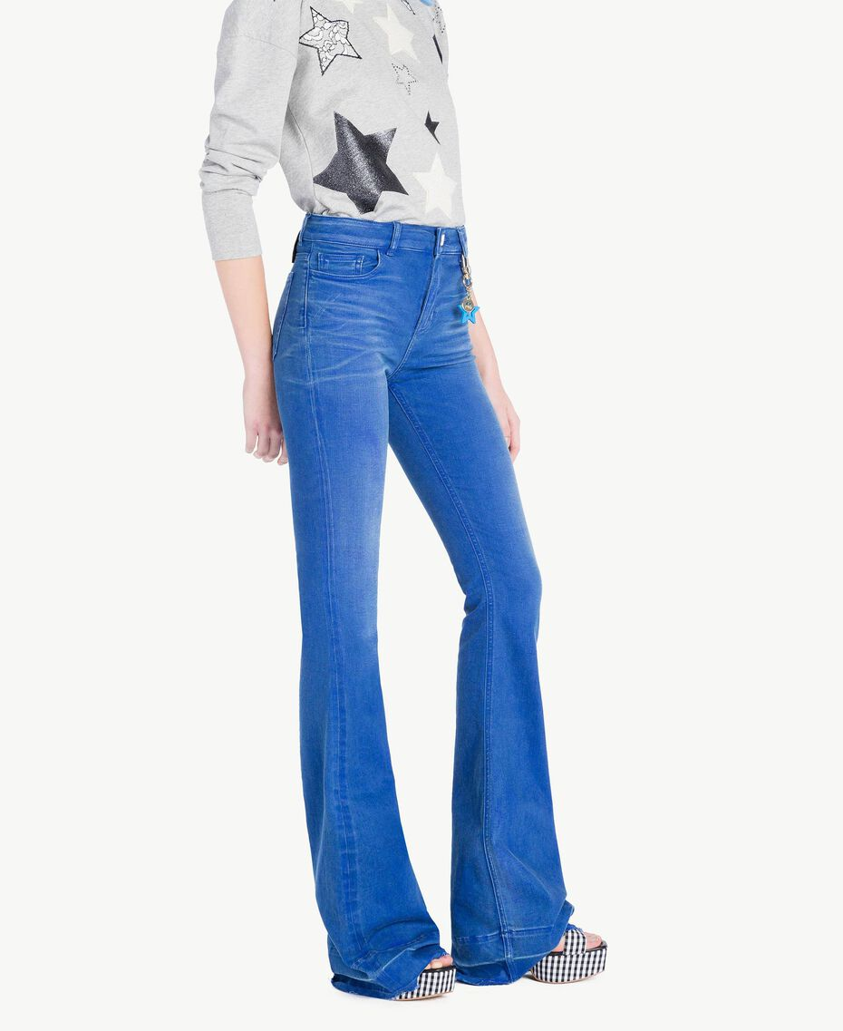 Bell bottom jeans Denim Blue Woman JS82WT-02