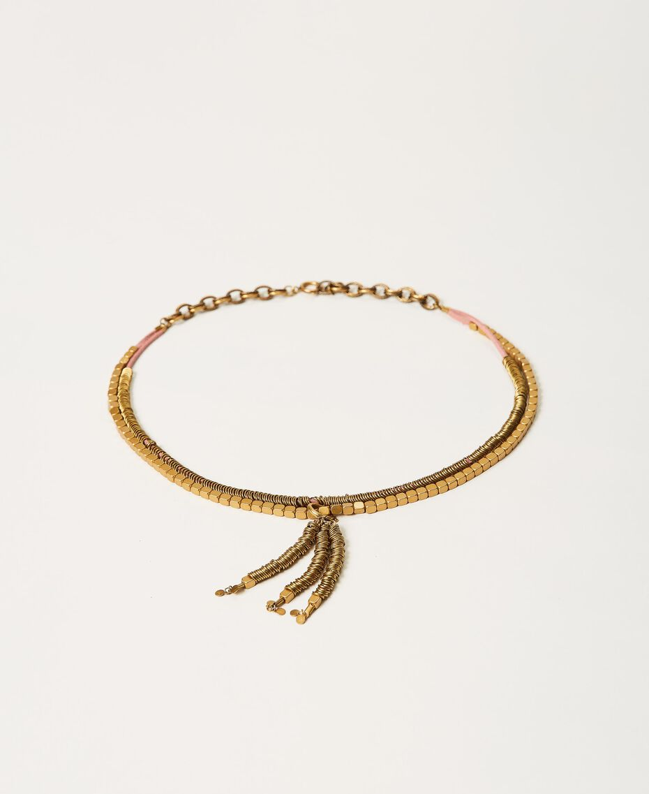 Cinturón-collar de cadena con colgante Oro «Latón envejecido Cobrizo» Mujer 211TO506E-01