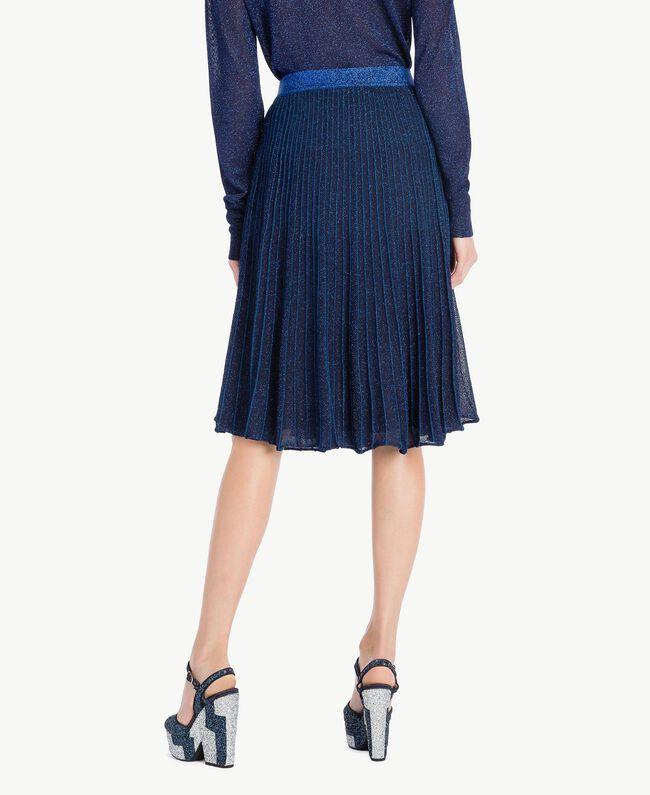 TWINSET Glitter sandals Two-tone Dark Blue / Glitter Silver Woman CS8PL1-06