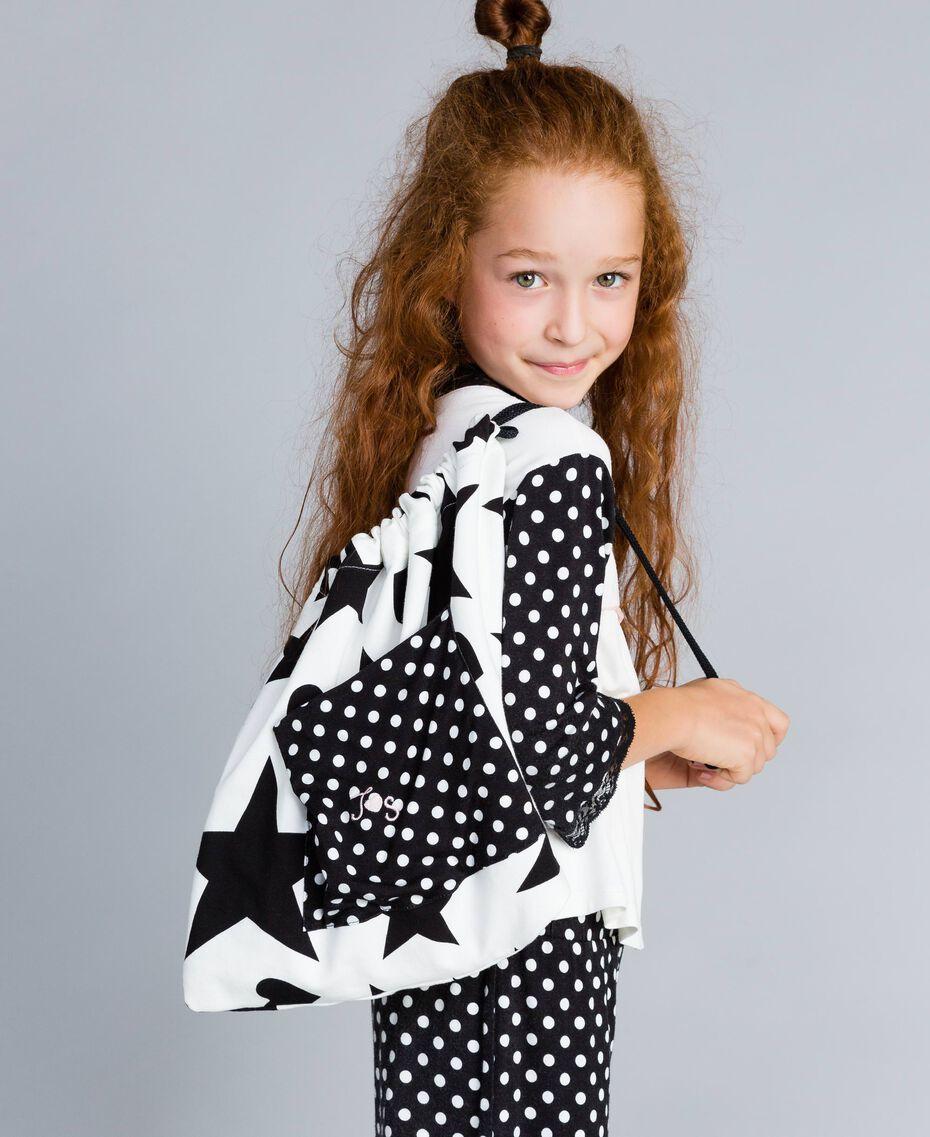 Pyjama en jersey à pois Bicolore Noir / Imprimé Pois Noir Enfant GA828D-0S