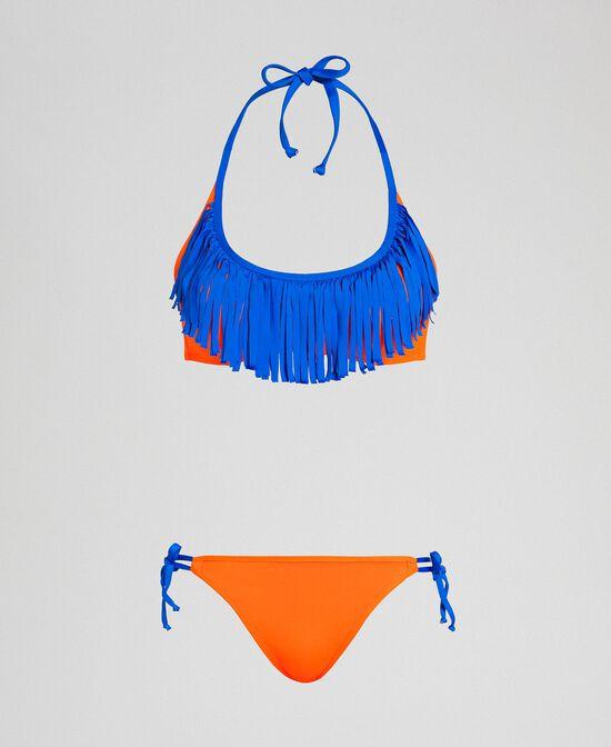 Maillot de bain bikini avec franges