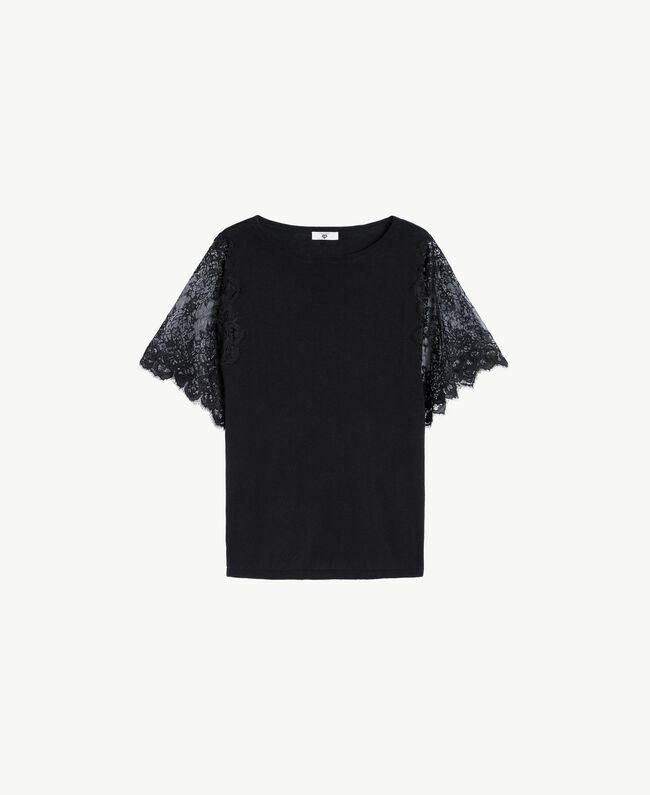Maxi maglia cotone Nero Donna LS8CCC-01