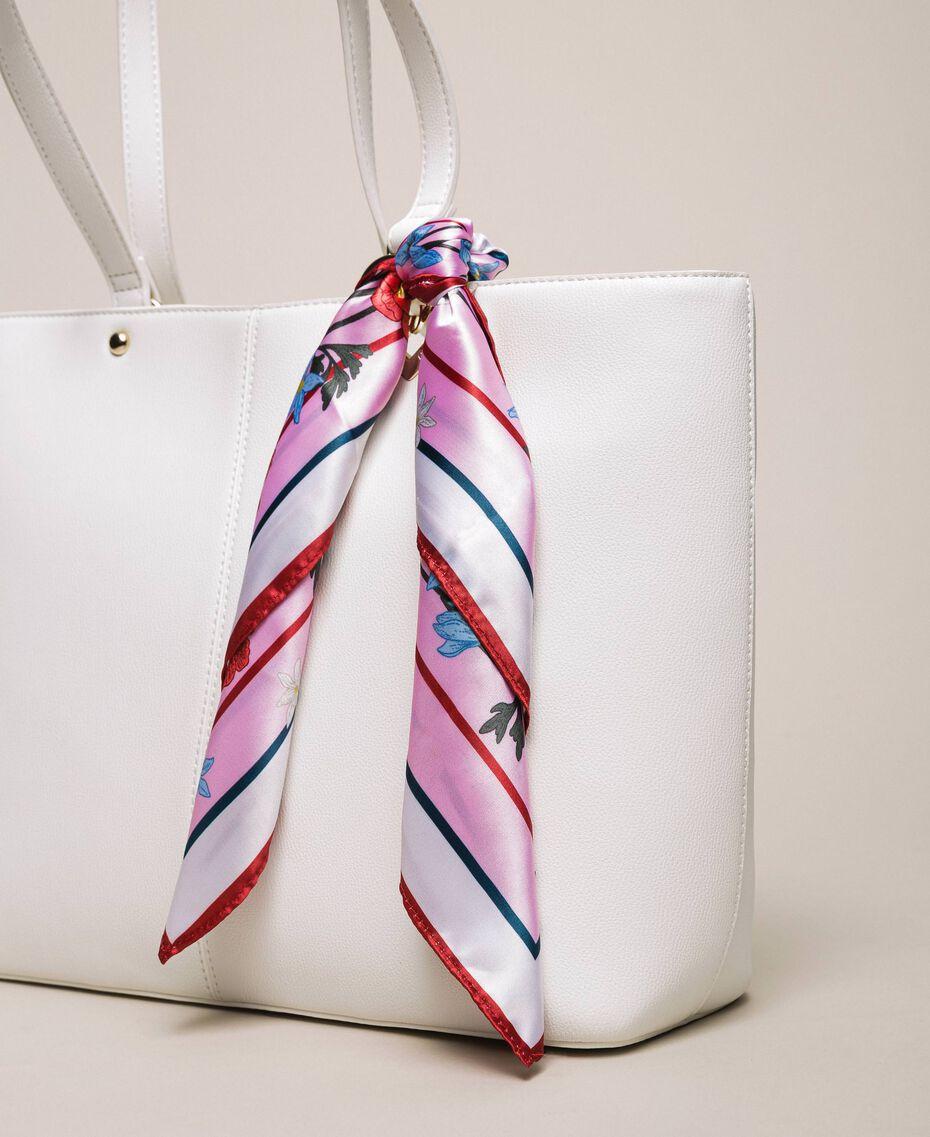 Sac cabas en similicuir avec foulard Lys Femme 201MA7080-01