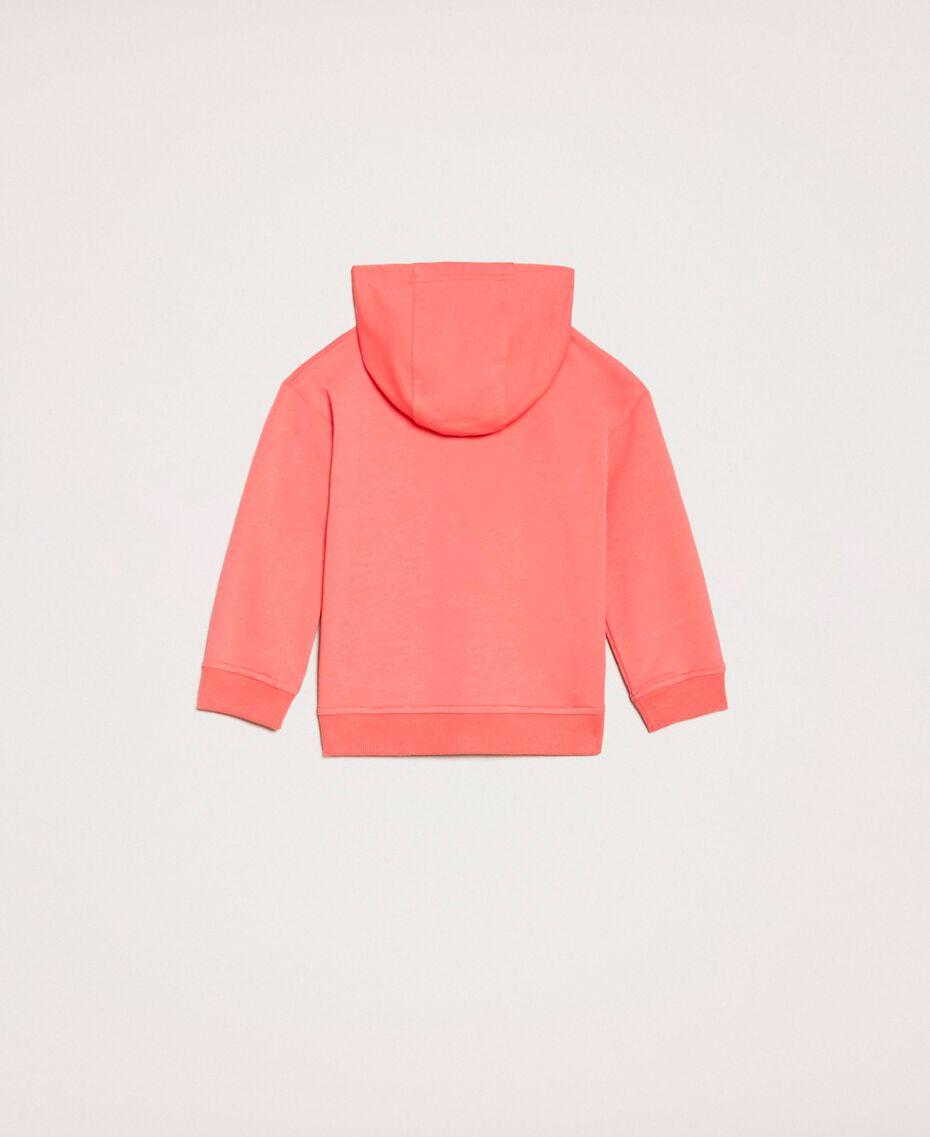 "Sweatshirt mit Pailletten-Patches ""Calypso Coral""-Rot Kind 201GB2300-0S"