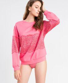 Sweat en viscose avec dentelle Rose Royal Pink Femme IA8CCC-0S