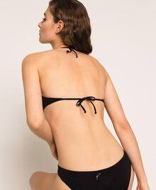 Soutien-gorge de bain bandeau avec cœur Noir Femme 201LBMCWW-03