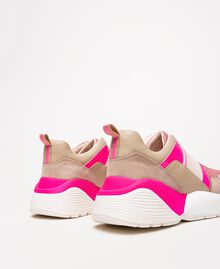 "Running shoes with logo Two-tone ""Blossom"" Pink / Fluo Fuchsia Woman 201TCP152-04"
