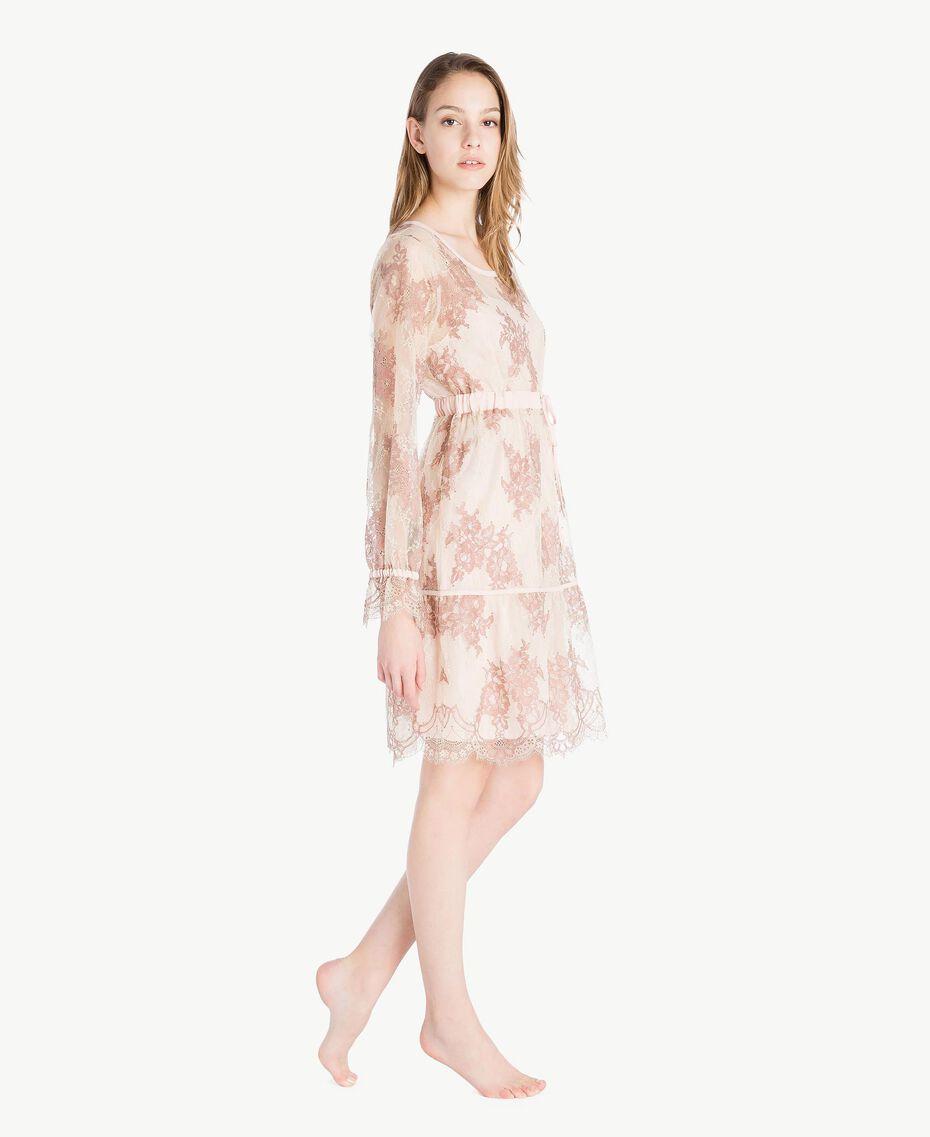 "Lace nightdress ""Dusty Cream"" Beige Lace Woman LS8FGG-03"