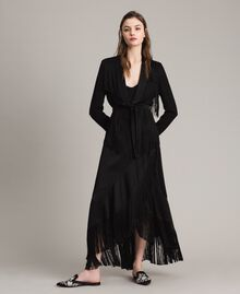 Blazer with fringes Black Woman 191TT2380-0T