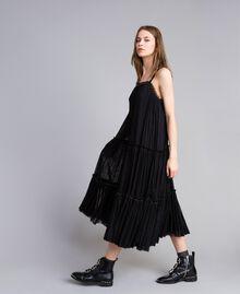 Robe volantée en tulle Noir Femme JA82MA-02