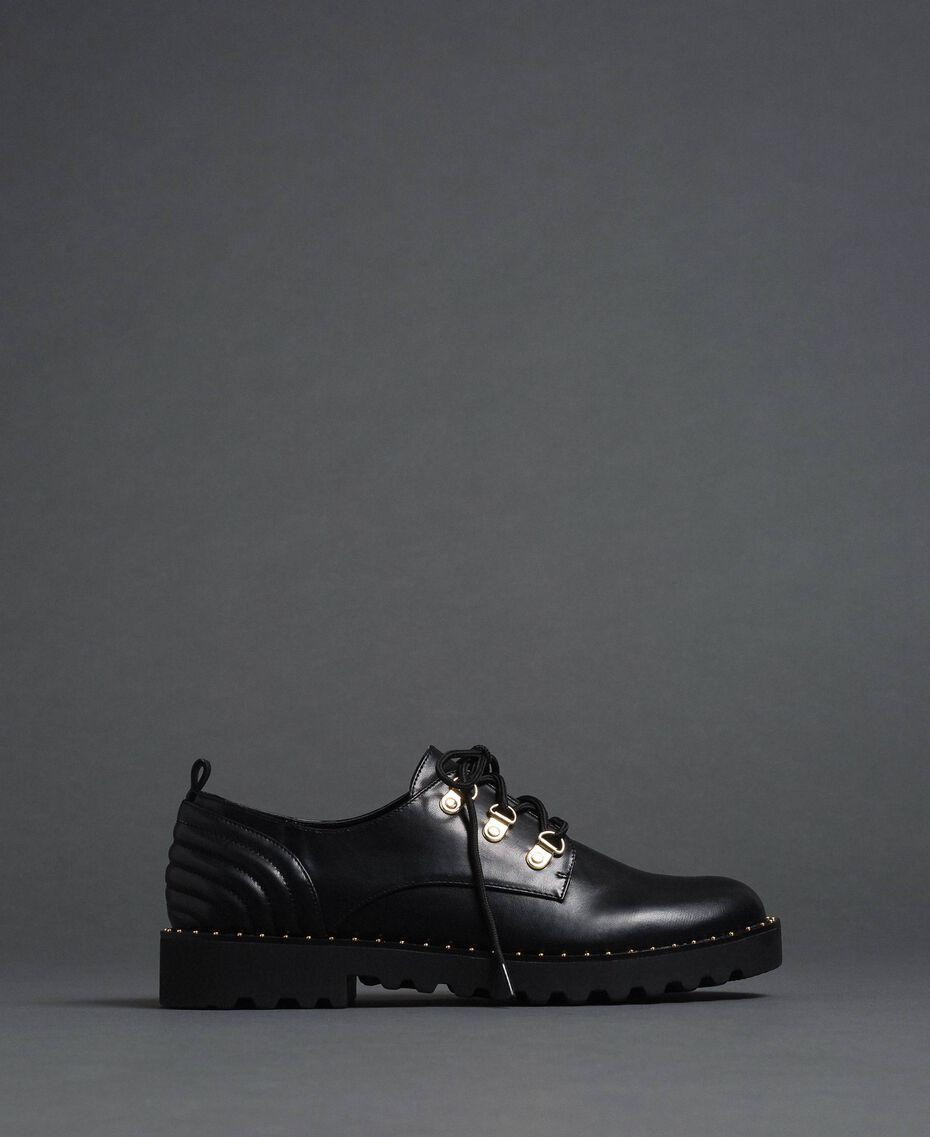 Туфли на шнуровке Черный женщина 192MCP098-02