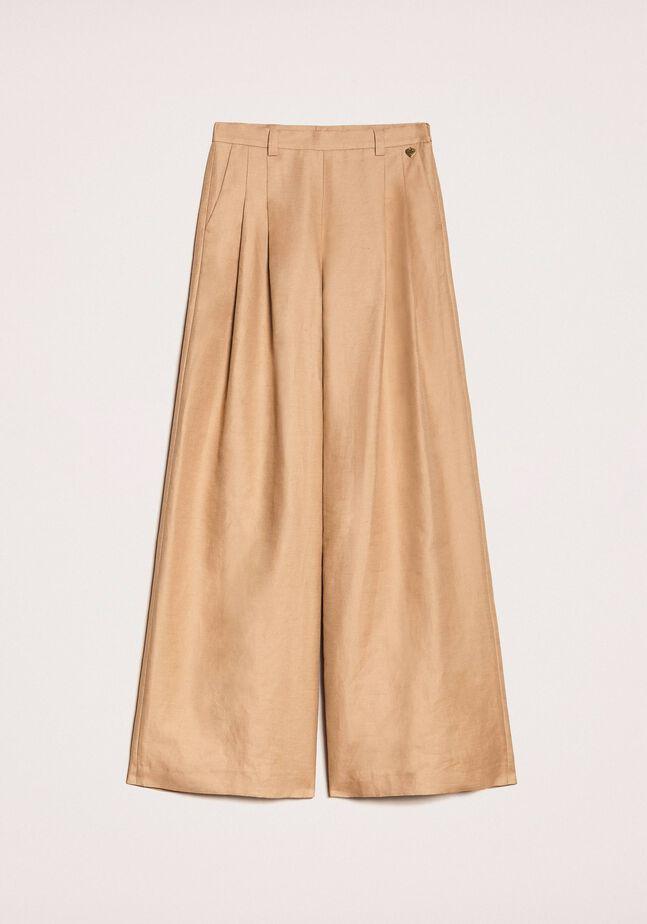Pantalon ample en lin mélangé