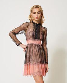 Robe en tulle et dentelle Bicolore Noir / Rose «Pêche Blossom» Femme 202TP2201-02