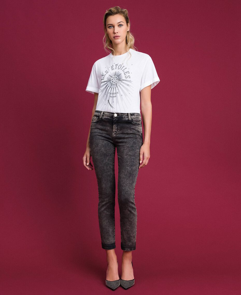 Push up jeans with five pockets Black Denim Woman 192MT2210-02