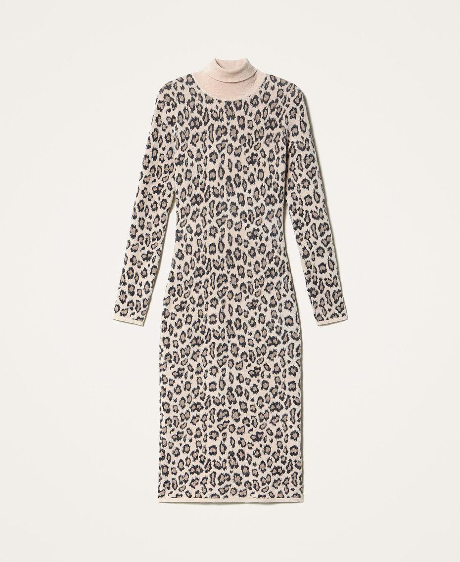 Robe fourreau en jacquard animalier Imprimé Jacquard Femme 202TT3160-0S