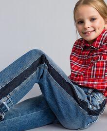 "Slouchy-Jeans mit Kontraststreifen Mittleres ""Denimblau"" Kind GA82VA-0S"