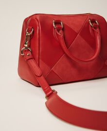 Faux leather bowler bag Cherry Red Woman 202MA7022-04