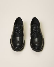 Туфли на шнуровке с декорированным каблуком Черный женщина 202MCT100-05
