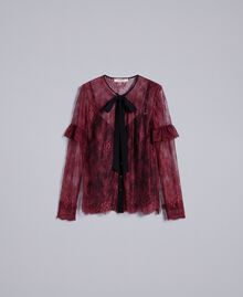 Valencienne lace multi-colour shirt Bordeaux Woman PA82FR-0S