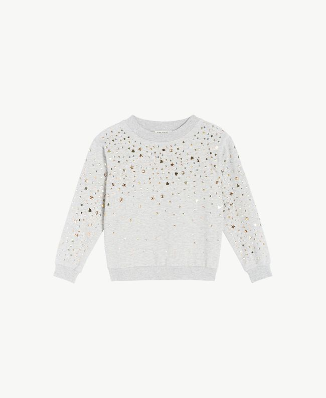Studded sweatshirt Light Gray Mélange Child GS82G2-01