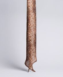 "Foulard aus Seide mit Animalierprint Print ""Snake"" Schokoladenbraun Frau AA8P15-01"