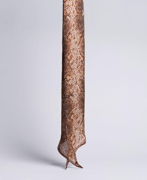 Foulard aus Seide mit Animalierprint