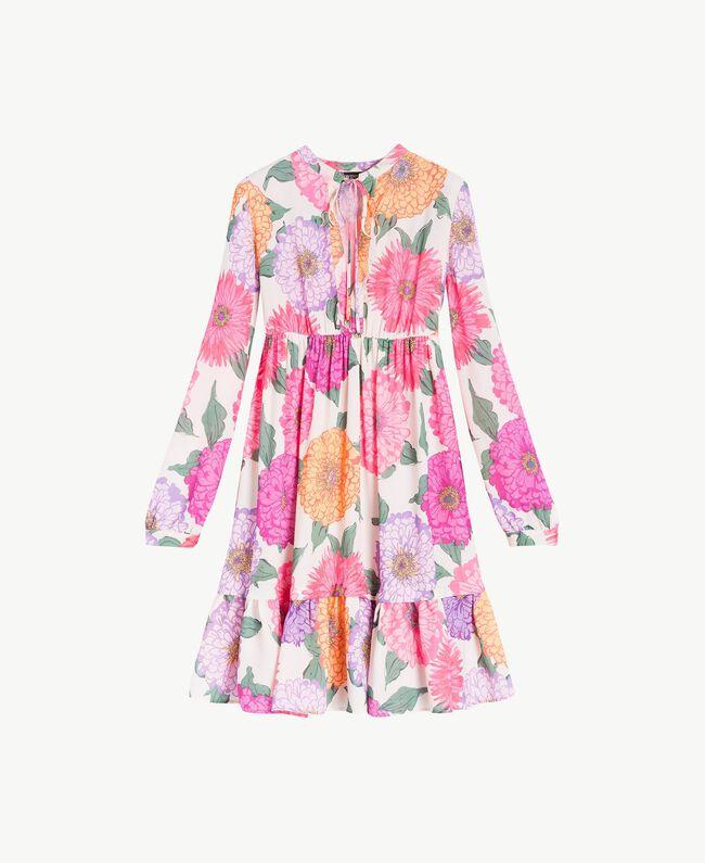 Kleid mit Blumenprint Makropfingstrosen-Print Frau NS82AB-06