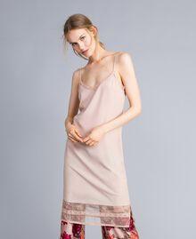 """Crêpe de Chine slip dress """"Nude"""" Beige Woman SA82H5-01"""